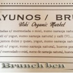 Woki - organico - Brunch en Barcelona - Carta-brunch
