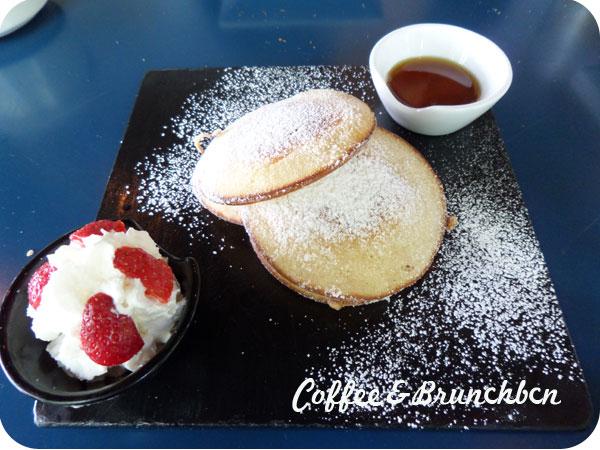 Brunch bien presentado pero mediocre–The room service-Pancakes