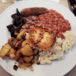 Huevos benedict con huevos ecologicos y English muffins-English breakfast
