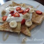Huevos benedict con huevos ecologicos y English muffins-French toast