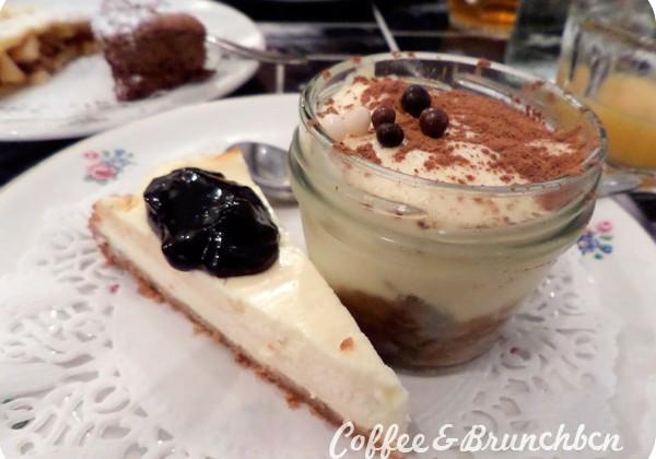 Brunchear en Paris-Marcovaldo-Tiramisu y Cheesecake