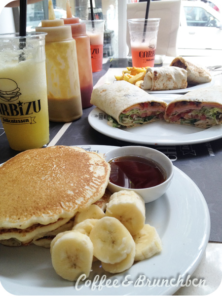 Brunch con burritos, tortitas y zumos naturales–Garbizu delicatessen-Brunch y zumos