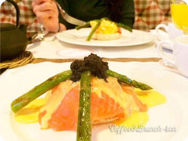 Huevos con salmon del brunch en Coruna de Pandelino