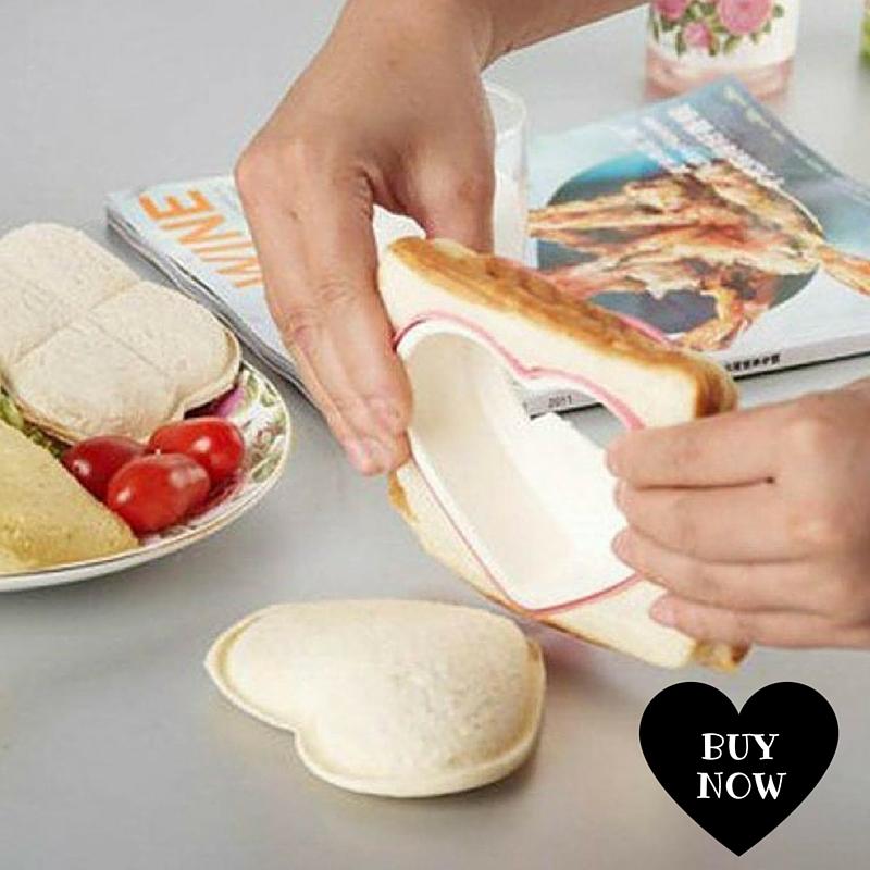 Cortador de sandwich en forma de corazon