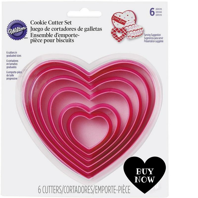 Cortadores basicos en forma de corazon para galletas, pan o fruta