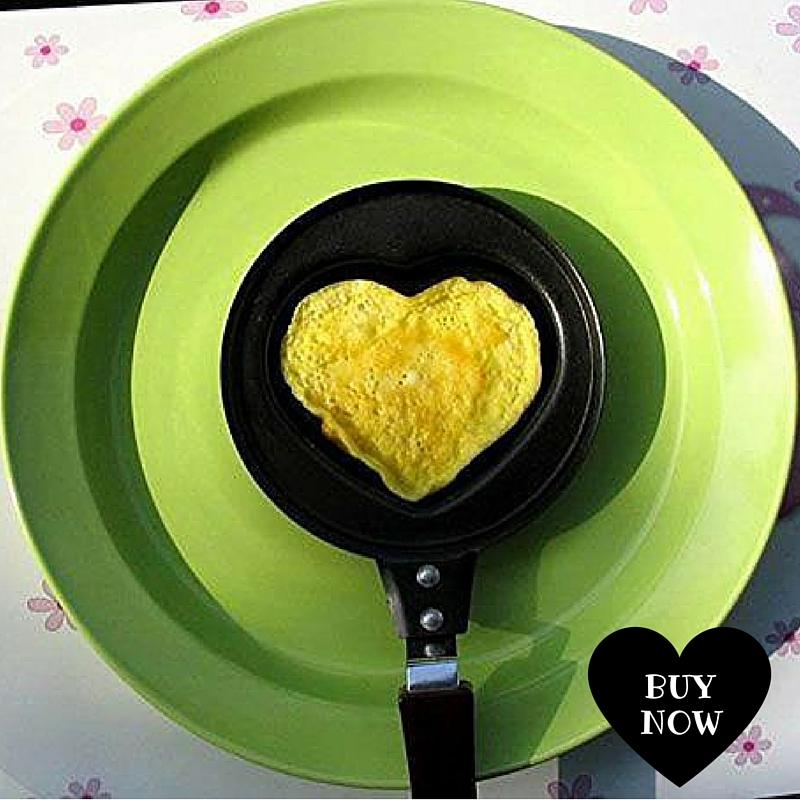 Sarten en forma de corazon para huevo frito o tortilla