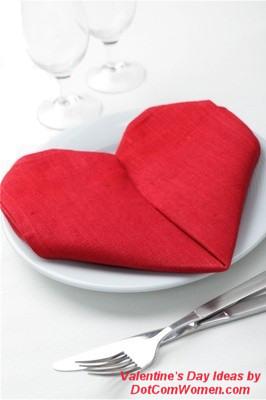 Servilleta en forma de corazón