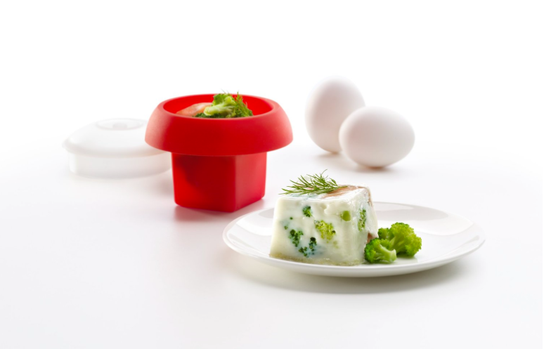 Molde para huevo para microondas