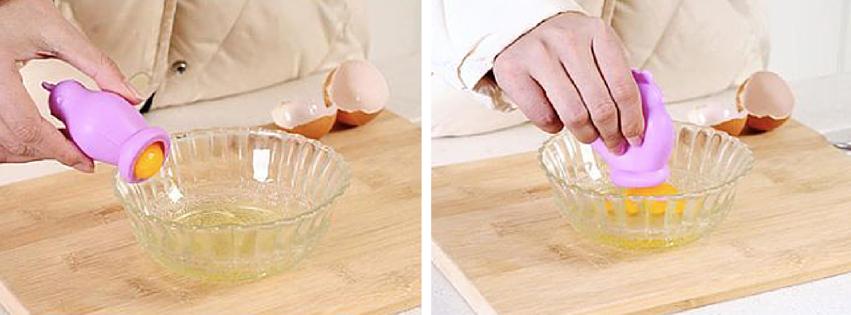 productos para brunch - Instrumento fácil para separar la yema del huevo