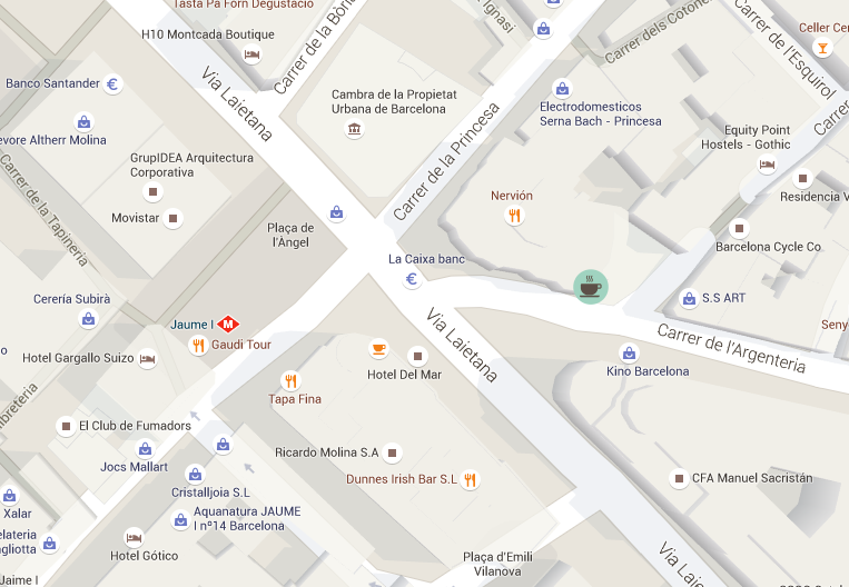 Mapa brunch barcelona