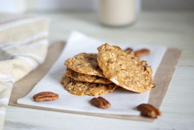 Galletas de avena sin horno-Recetas de brunch saludables-Mantequilla de cacahuetes
