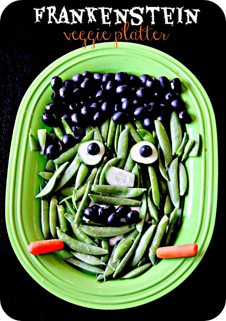 Recetas halloween brunch saludable-Frankenstein de verduras