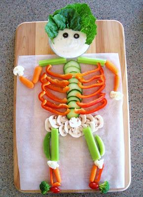 Recetas halloween brunch saludable-esqueleto de verduras
