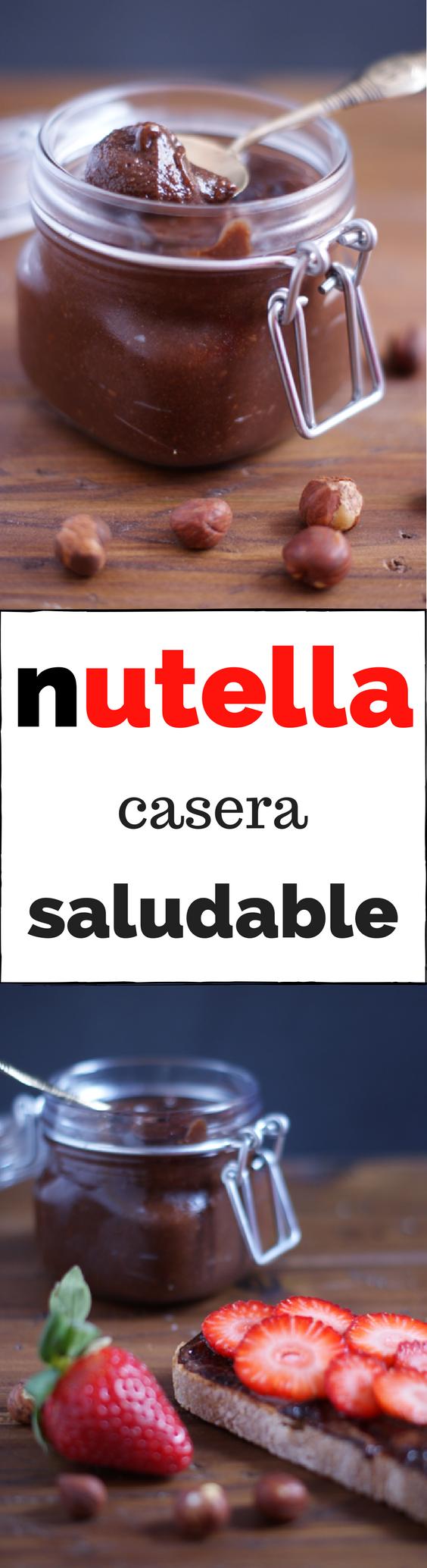 Nutella casera saludable