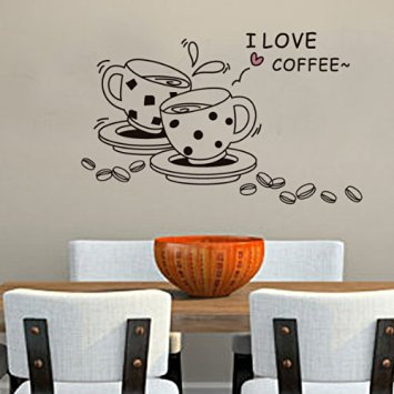 Vinilo decorativo I love Coffee - Regalos Coffee Lovers