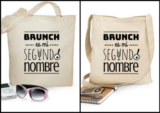 "Bolsa tela ""Brunch es mi segundo nombre"" - Regalos brunch lovers"