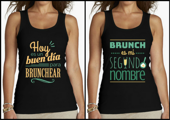 Camisetas brunch lovers