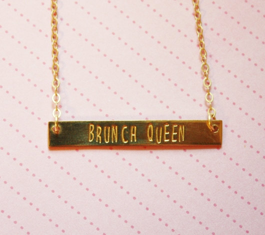 Collar reina del brunch - Regalos brunch lovers