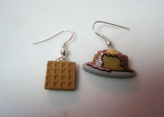 Pendientes gofre y panqueques - Regalos brunch lovers