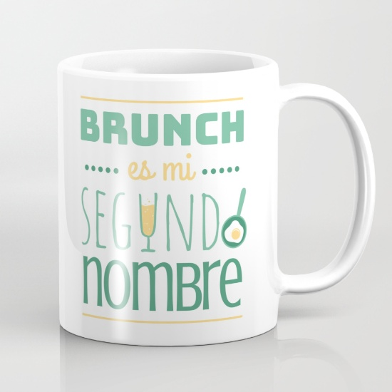 "Taza ""Brunch es mi segundo nombre"" - Regalos brunch lovers"