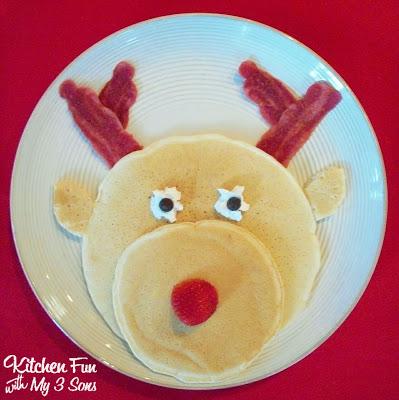 Panqueque en forma de reno - Recetas brunch navideño