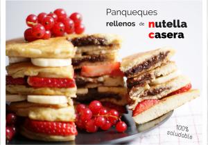 Panqueques rellenos de nutella saludable - Receta de brunch saludable