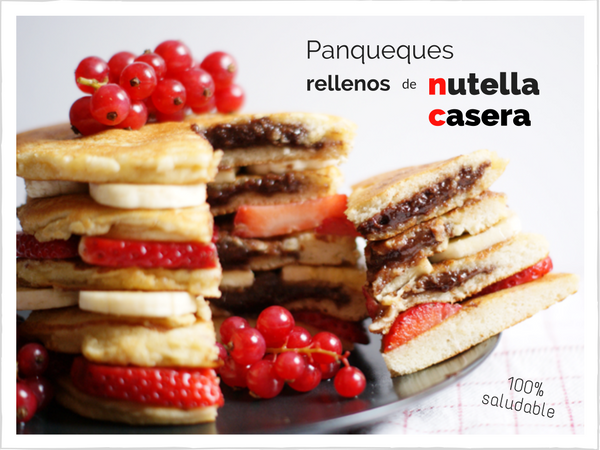 Panqueques rellenos de nutella saludable - Receta de brunch saludable