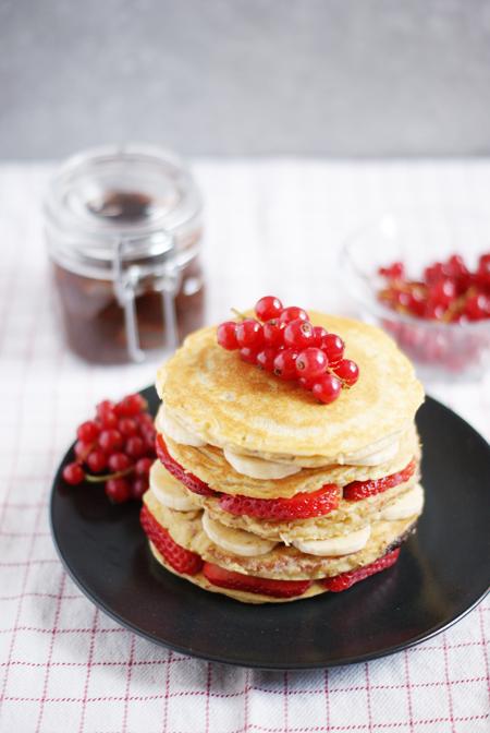 Panqueque saludables con nutella casera - Receta brunch saludable