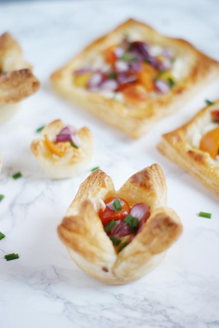 Tartaletas de hojaldre - Recetas de brunch vegetariano