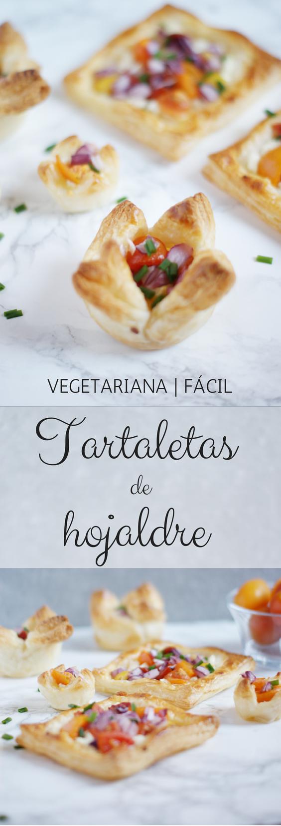 Tartaletas de hojaldre vegetariana y fáciles de preparar - Receta de brunch