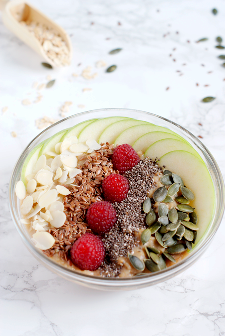 Receta de brunch saludable - Porridge vegano de manzana