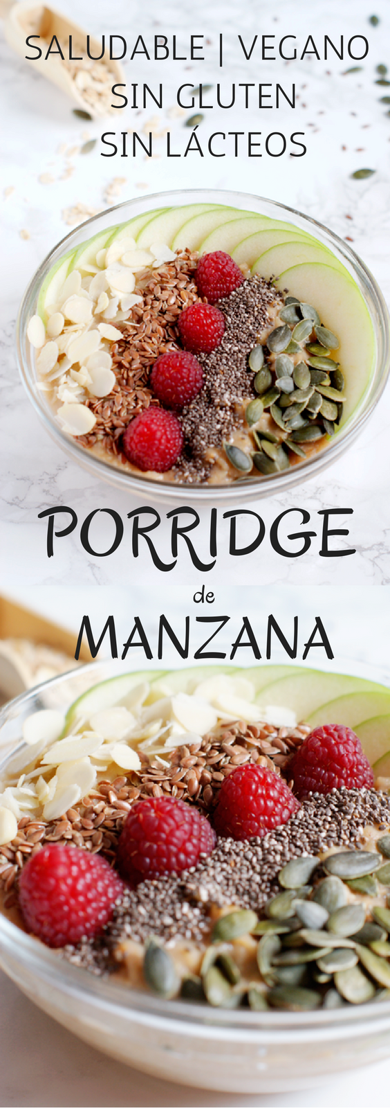 Receta de brunch saludable - Porridge de manzana