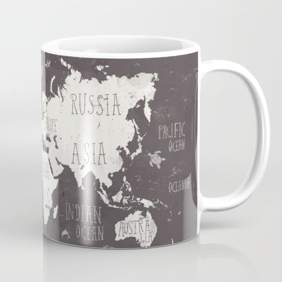 Tazas para regalar - Mapa del mundo